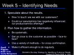 week 5 identifying needs