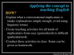 applying the concept to teaching english1