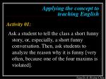 applying the concept to teaching english3