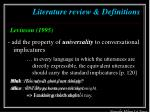 literature review definitions14