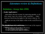 literature review definitions3