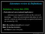 literature review definitions4