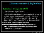 literature review definitions5