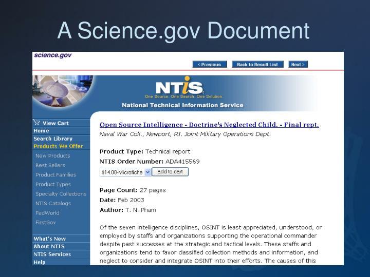 A Science.gov Document