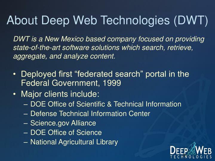 About deep web technologies dwt