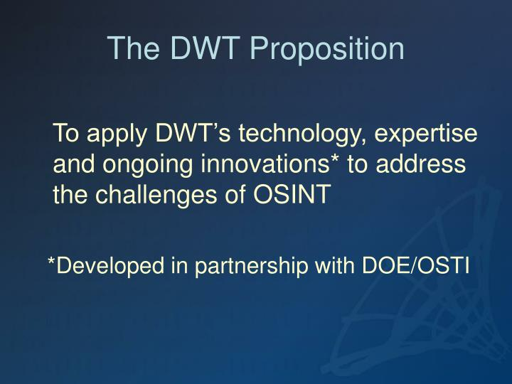 The DWT Proposition