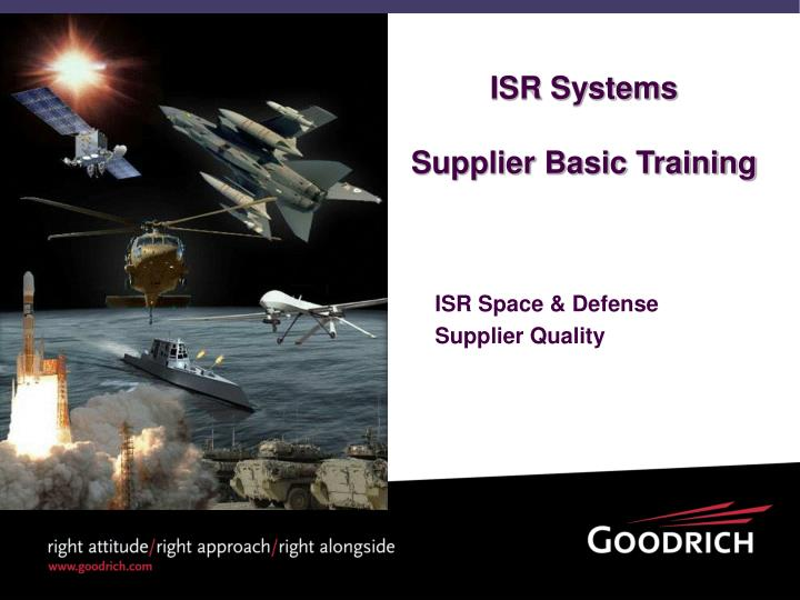 isr systems supplier basic training n.