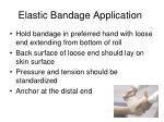 elastic bandage application