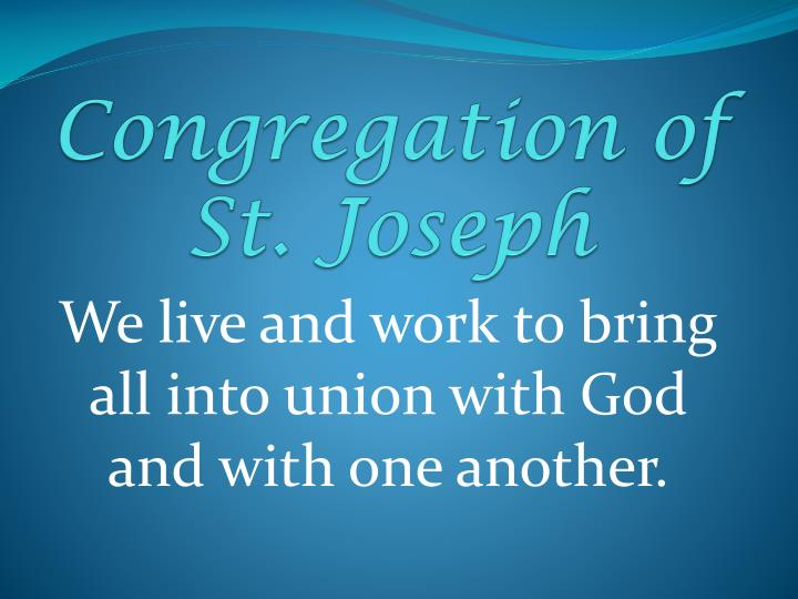congregation of st joseph n.