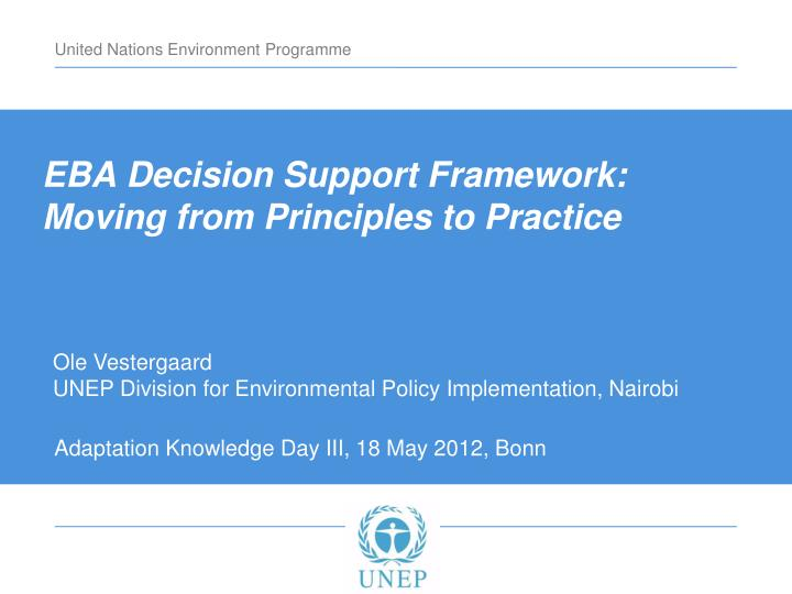 eba decision support framework n.
