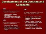 development of the doctrine and covenants1