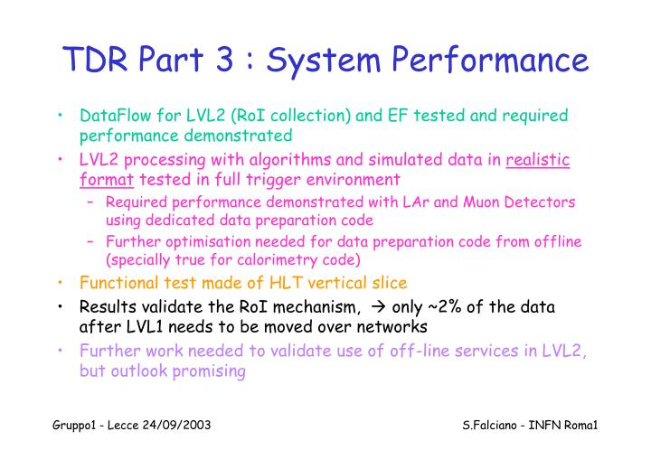 TDR Part 3 : System Performance
