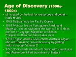 age of discovery 1500s 1800s