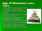 age of discovery 1500s 1800s1