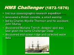 hms challenger 1872 1876