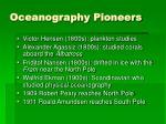 oceanography pioneers