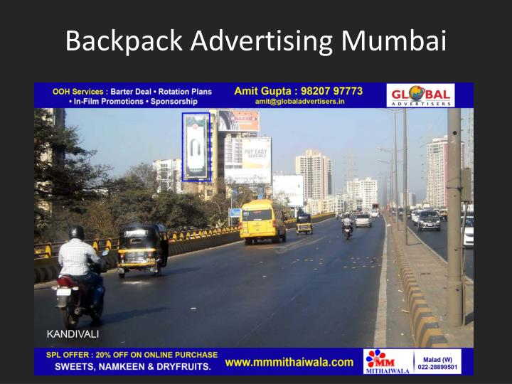 Backpack advertising mumbai