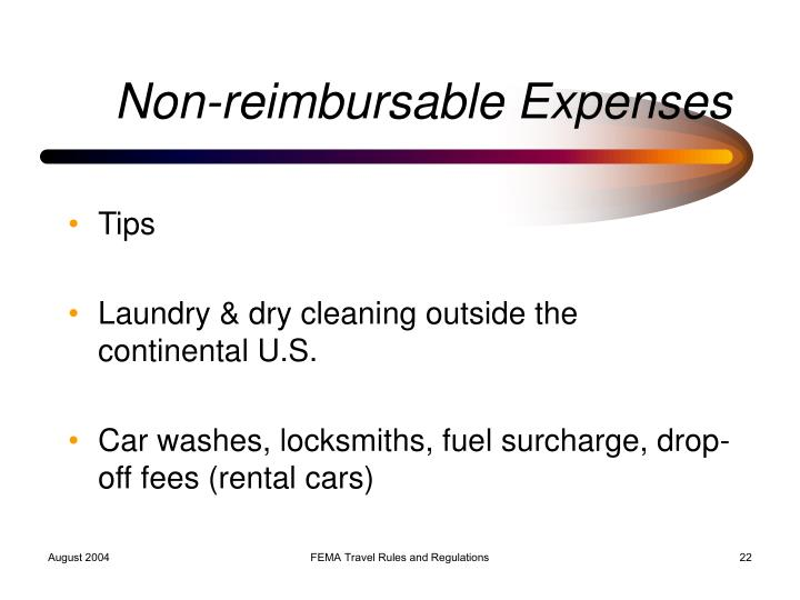 Non-reimbursable Expenses