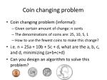 coin changing problem1
