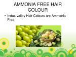ammonia free hair colour