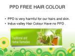 ppd free hair colour