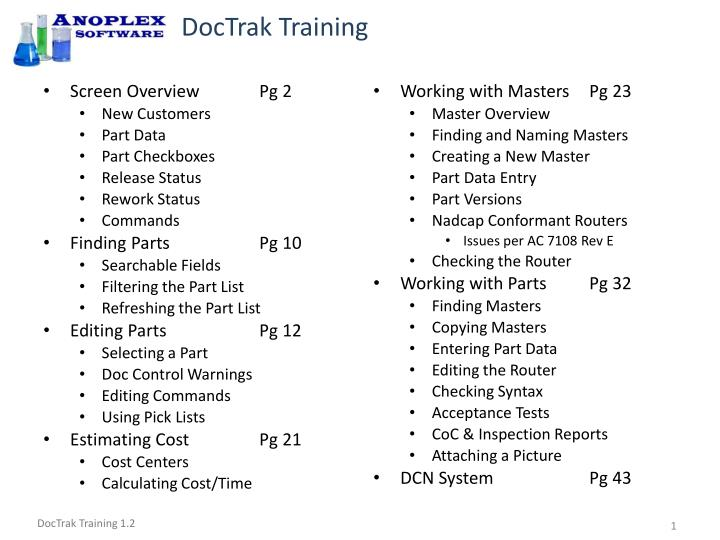 doctrak training n.
