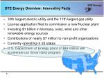 dte energy overview interesting facts