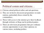 political comm and citizens
