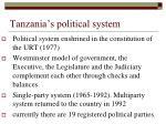tanzania s political system