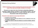 defensive driving defined