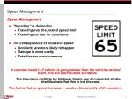 speed management