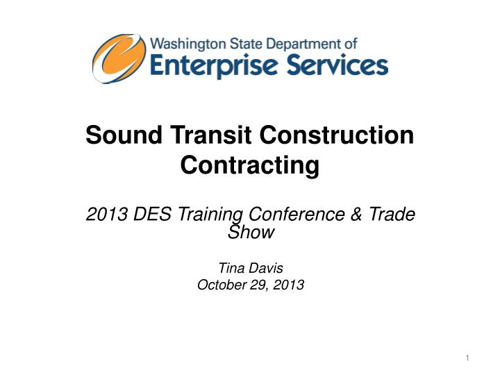 sound transit construction contracting n.