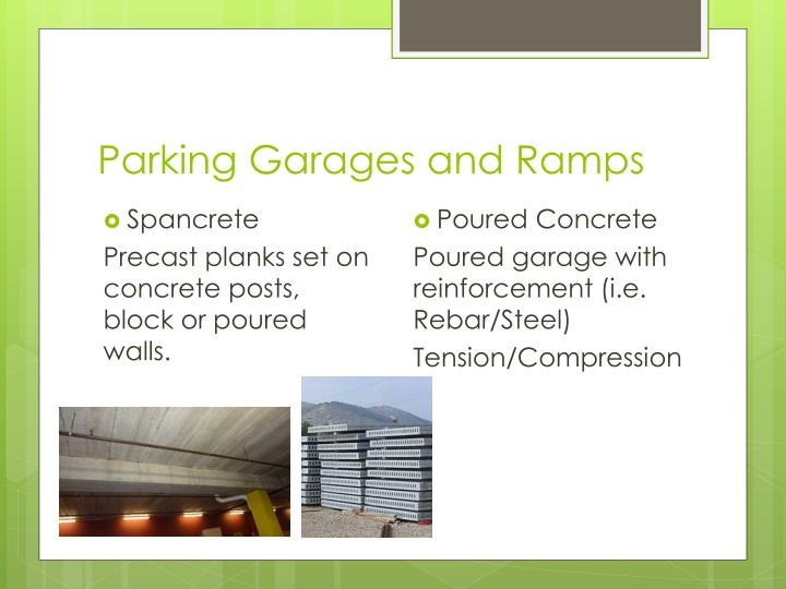 Parking Garages and Ramps