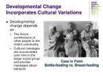 developmental change incorporates cultural variations