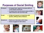 purposes of social smiling