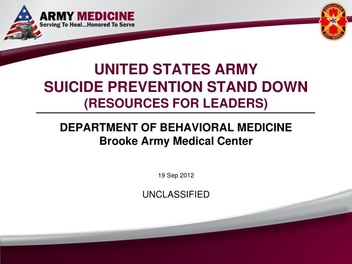 Ppt united states army suicide prevention stand down resources united states army toneelgroepblik Image collections