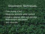 gravimetric techniques