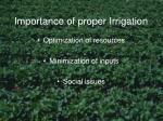 importance of proper irrigation