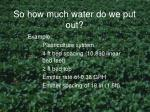 so how much water do we put out