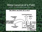 water balance of a field from basic irrigation scheduling in florida by smajstrla et al