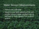 water tension measurements1