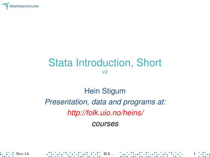 stata introduction short v2 n.