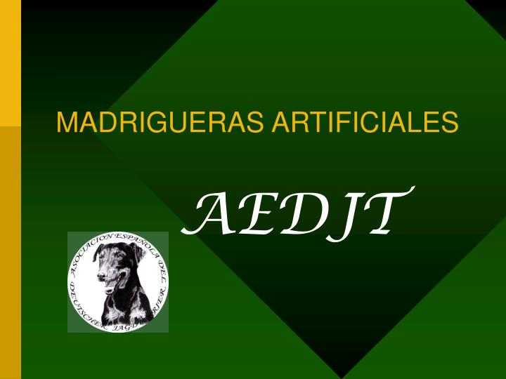 madrigueras artificiales n.