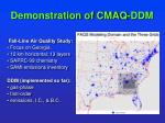 demonstration of cmaq ddm