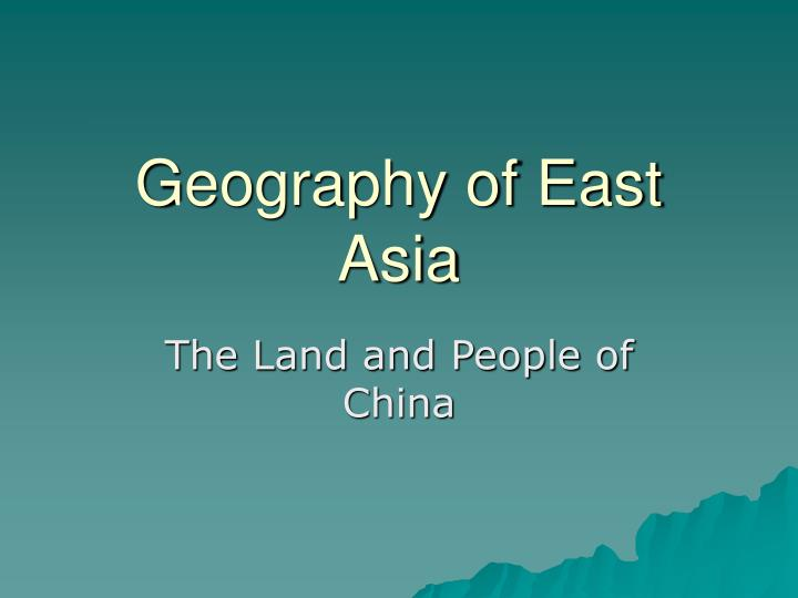 geography of east asia n.