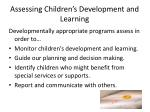 assessing children s development and learning