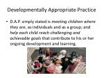 developmentally appropriate practice1
