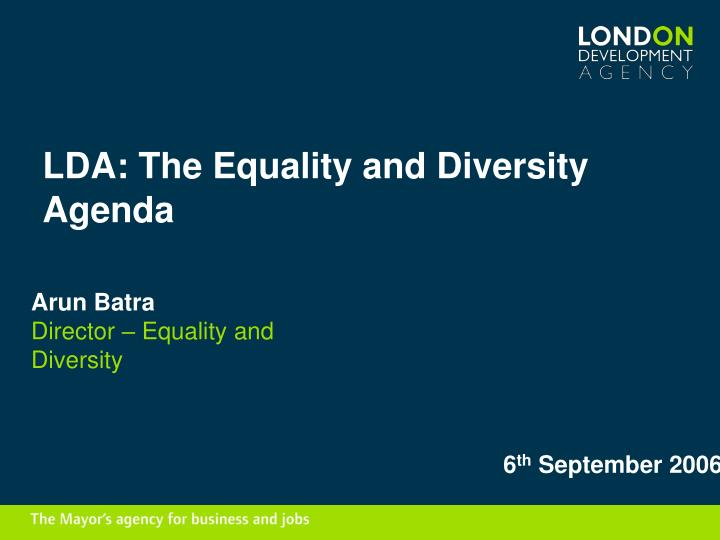 lda the equality and diversity agenda n.