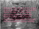 military coup