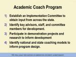 academic coach program